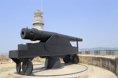 Huge cannon in ancient fort Stock Photos