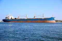 Huge cargo ship Royalty Free Stock Photography