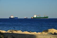 Huge cargo ships Stock Photos