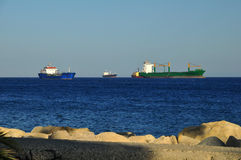 Huge cargo ships Royalty Free Stock Photo