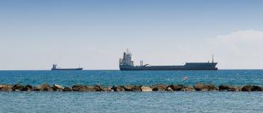 Huge cargo ships Stock Image