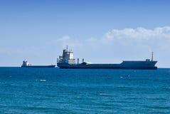 Huge cargo ships Royalty Free Stock Photo