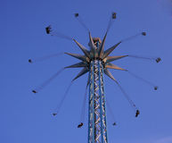 Huge carousel. In an amusement park Royalty Free Stock Photos