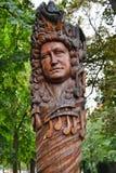 Huge Carving of Johann Sebastian Bach Stock Photo