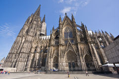 Huge cathedral in Cologne, Germany Royalty Free Stock Images