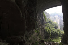 The huge cave and canyons. China's chongqing wulong natural three bridge, the location of transformers 4 and other  movies Stock Image