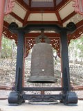 Huge ceremonial bell, temple, Vietnam. A huge ceremonial bell for Buddhist temple or monastery Stock Photography