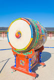Huge ceremonial drum. At Gyeongbokgung Palace Royalty Free Stock Photos