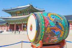 Huge ceremonial drum Stock Photography