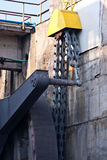 Huge chain. Used to operate the huge damn gates on river Olt Royalty Free Stock Photo