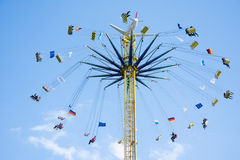 Huge Chairoplane at the Oktoberfest in Munich Royalty Free Stock Image