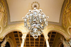 Huge chandelier in old history building Casino Stock Image
