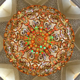 Huge chandelier in the Sheikh Zayed mosque in Abu Dhabi stock photos