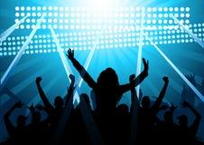 Huge Cheering Crowd! Stock Image