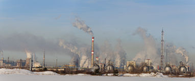 Huge chemical factory. Huge chemical plant in Russia Stock Image