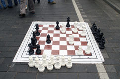 Huge chess game figure street event Stock Images