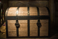 Huge chest at the residence of Grandfather Frost. Royalty Free Stock Photos