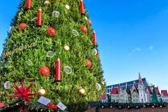 Huge Christmas tree in the German town of Dortmund Stock Images