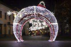 Huge Christmass ball royalty free stock photos