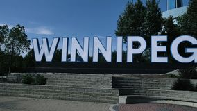 Huge City Winnipeg Sign at the Forks Market Manitoba Canada