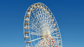 Huge Classical Fair Ferris Wheel In France stock video