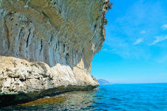 Huge cliff in Orosei Gulf Royalty Free Stock Photo