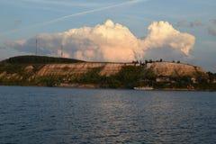 Huge cloud above island Stock Image