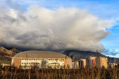 Huge cloud. Huge  grey and white cloud in Montenegro Royalty Free Stock Photography