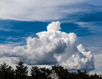 A huge cloud. A large cloud in the sky over gorodm Stock Photography