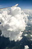 Huge cloud  from plane Stock Photo