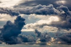 Huge clouds Stock Photo