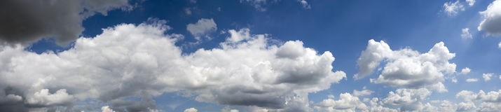 Huge cloudscape panorama weather getting better Stock Photo
