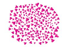 Huge cluster of hearts. Huge Pink Cluster of Hearts Vector Banner. A Lot of Doodle Beautiful Hearts. Love Shapes Confetti Original Abstract Background vector illustration