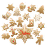 Huge collection of Christmas gingerbread Stock Photography