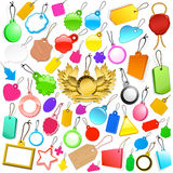 Huge collection of colourful tags Royalty Free Stock Photos