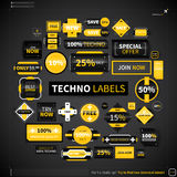 Huge collection of different labels and badges Stock Photography