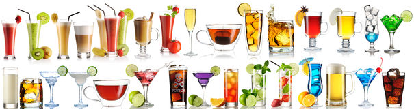 Huge collection of drinks Royalty Free Stock Image