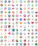 Huge collection of trendy icons Stock Photos