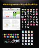 Huge collection of web graphics. And icons Stock Photography