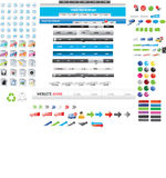 Huge collection of web graphics. And icons Royalty Free Stock Image