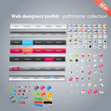 Huge collection of web graphics. And icons Stock Photos