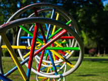 Huge and colorful DNA model in a park at Belgrade stock image