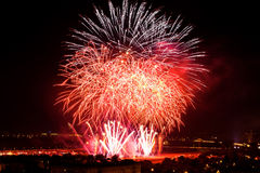 Huge colorful fireworks Stock Photography