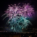 Huge colorful fireworks Royalty Free Stock Photography