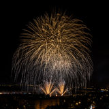 Huge colorful fireworks Royalty Free Stock Photos
