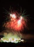Huge Colorful Fireworks Stock Images