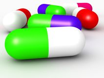 Huge Colorful Medicine Capsule Royalty Free Stock Photography