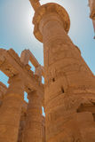 Huge column in the  Karnak Temple Stock Photo