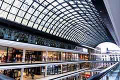 The huge complex of the Mall of Berlin is located near the Berlin Potsdamer Platz railway station. This massive shopping mall is located on the Leipziger Platz Royalty Free Stock Images