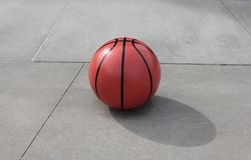 Basketball Concrete Royalty Free Stock Photography